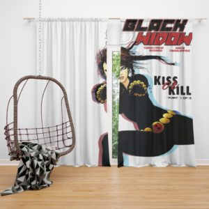 Black Widow Kiss Or Kill Marvel Comic Curtain