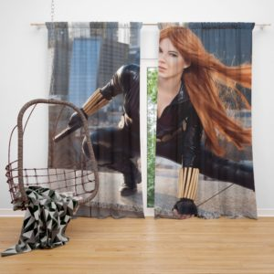 Black Widow Women Cosplay Marvel Comics Curtain