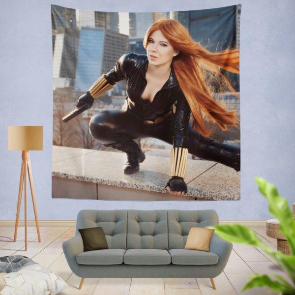Black Widow Women Cosplay Marvel Comics Wall Hanging Tapestry