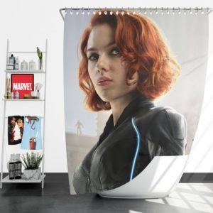Black Widow in Avengers Infinity War Movie Shower Curtain