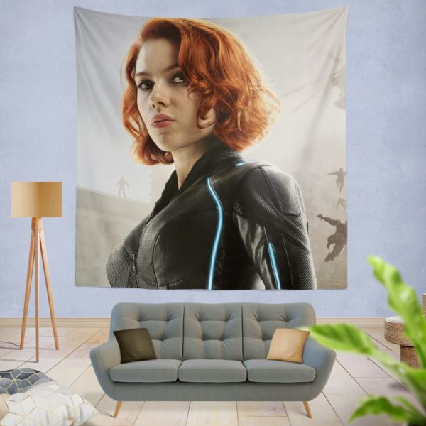 Black Widow in Avengers Infinity War Movie Wall Hanging Tapestry