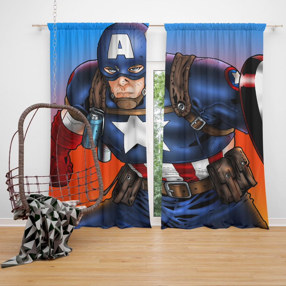 Captain America Avengers Unity Division Curtain