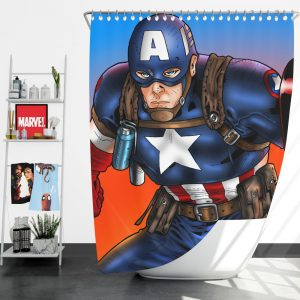 Captain America Avengers Unity Division Shower Curtain