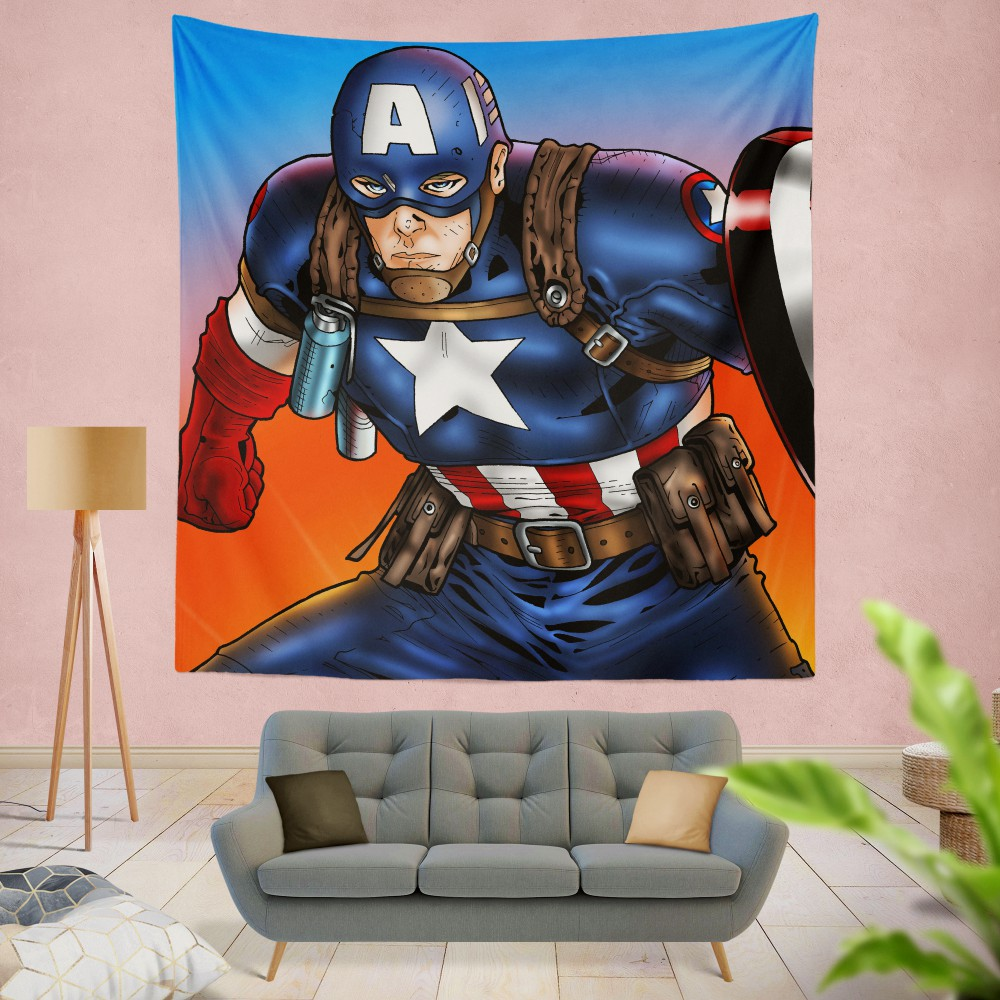 Captain America Avengers Unity Division Wall Hanging Tapestry