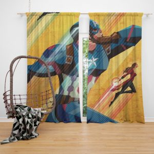 Captain America Civil War Marvel Movie Curtain