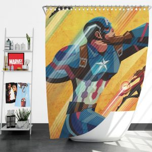 Captain America Civil War Marvel Movie Shower Curtain