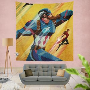 Captain America Civil War Marvel Movie Wall Hanging Tapestry