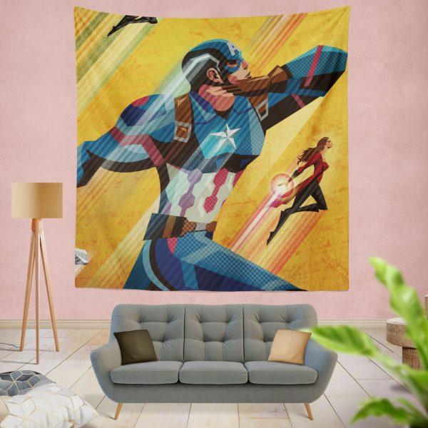 Captain America Civil War Marvel Movie Wall Hanging Tapestry