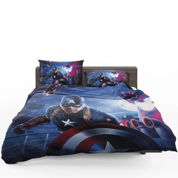 Captain America Iron Man Spider Man Bedding Set 1