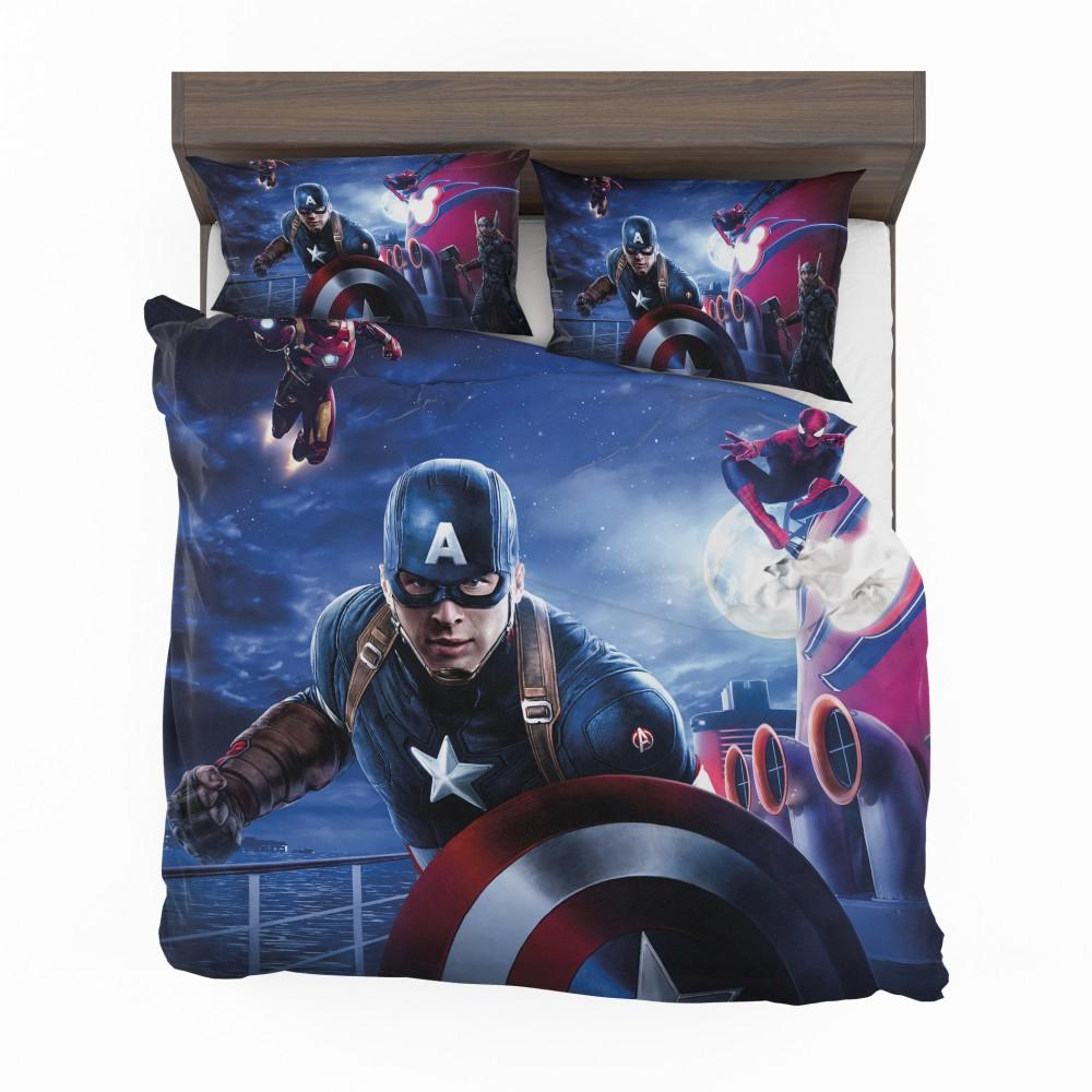 Captain America Iron Man Spider Man Bedding Set 2