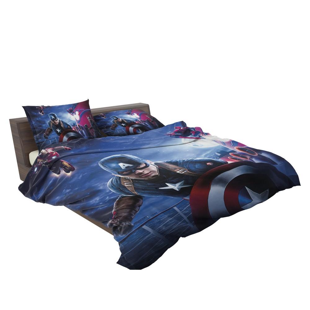 Captain America Iron Man Spider Man Bedding Set 3