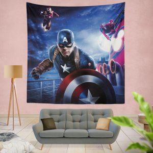 Captain America Iron Man Spider Man Wall Hanging Tapestry