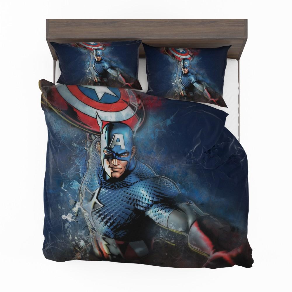 Captain America Marvel Comics Secret Defenders Bedding Set 2