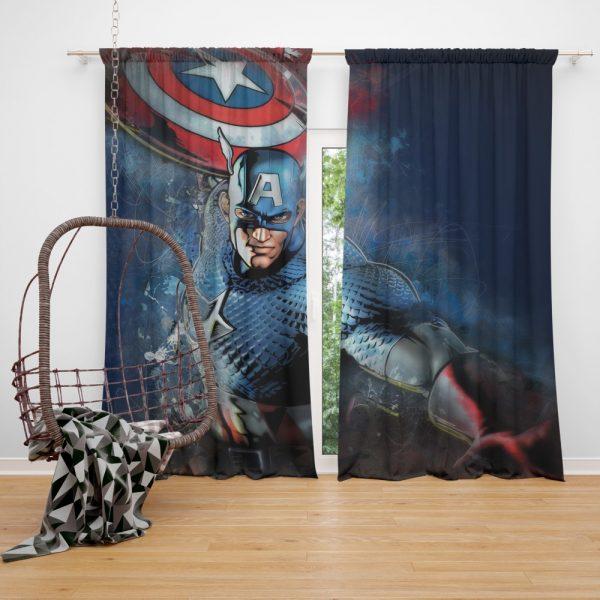 Captain America Marvel Comics Secret Defenders Curtain