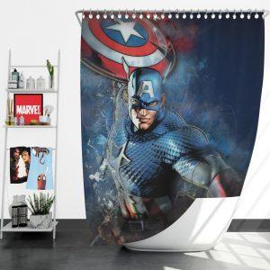 Captain America Marvel Comics Secret Defenders Shower Curtain