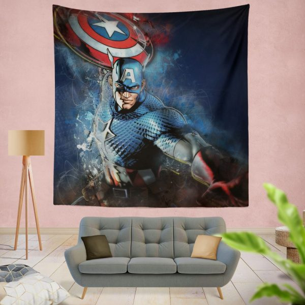 Captain America Marvel Comics Secret Defenders Wall Hanging Tapestry