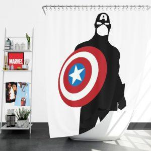 Captain America Marvel SHIELD Secret Avengers Shower Curtain