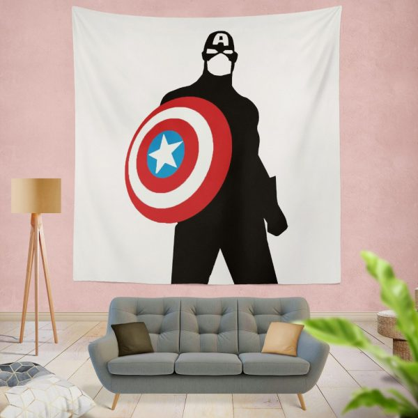 Captain America Marvel SHIELD Secret Avengers Wall Hanging Tapestry