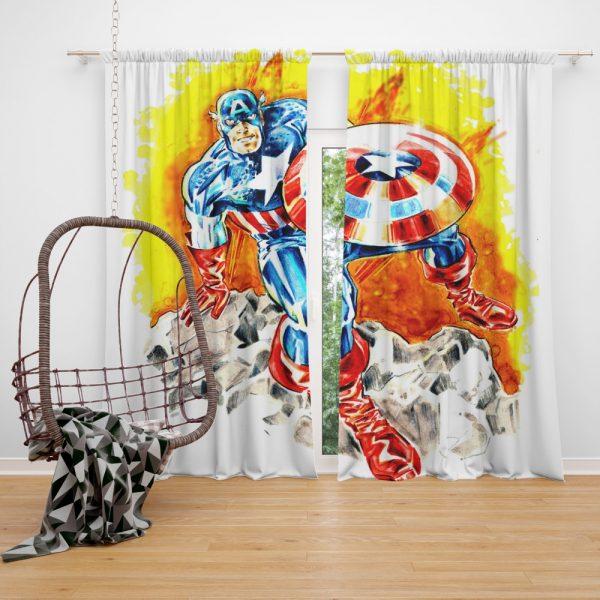 Captain America The First Avenger Marvel Curtain