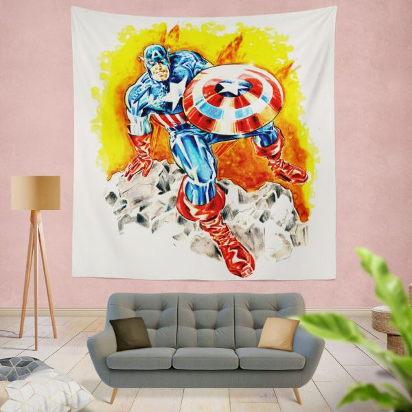 Captain America The First Avenger Marvel Wall Hanging Tapestry