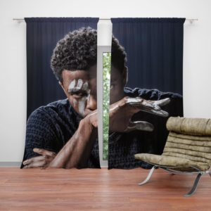 Chadwick Boseman Black Panther Curtain