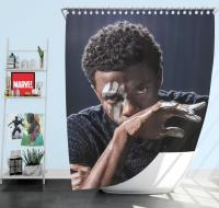 Chadwick Boseman Black Panther Shower Curtain