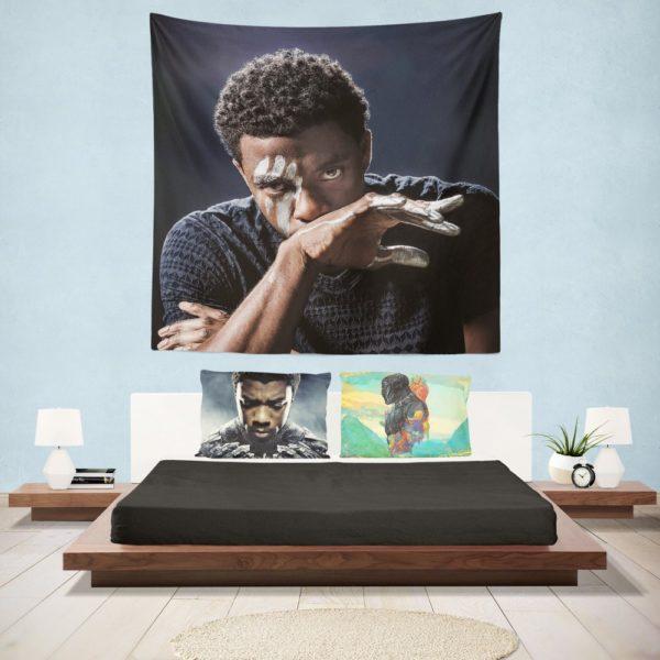 Chadwick Boseman Black Panther Wall Hanging Tapestry