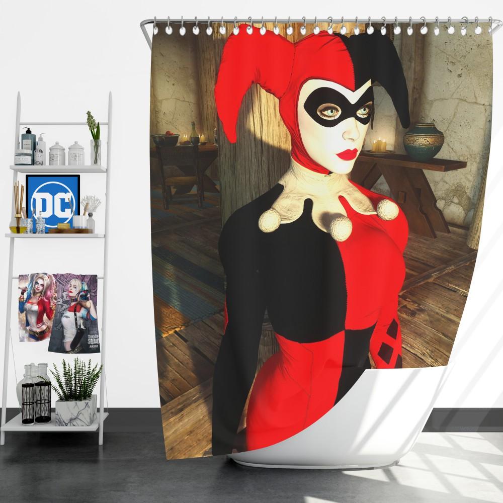 Crossover Batman Arkham Knight Skyrim Shower Curtain