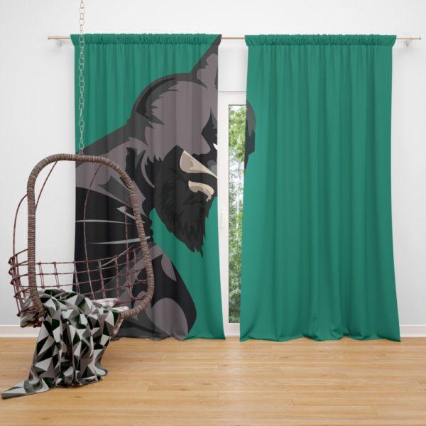 DC Comics  Batman Beard Style Curtain