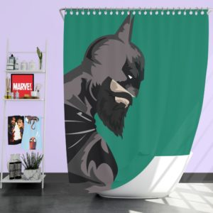 DC Comics Batman Beard Style Shower Curtain