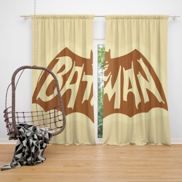 DC Comics Men's Batman Classic TV Show Logo Curtain
