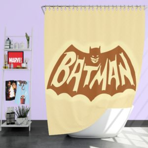 DC Comics Men's Batman Classic TV Show Logo Shower Curtain
