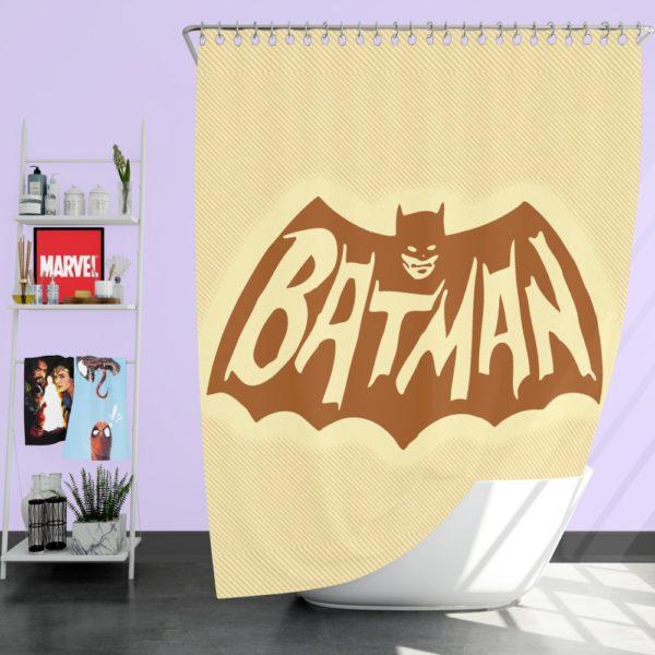 DC Comics Men's Batman Classic TV Show Logo Shower Curtain