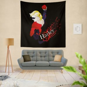 DC Icons Harley Quinn Figure Wall Hanging Tapestry