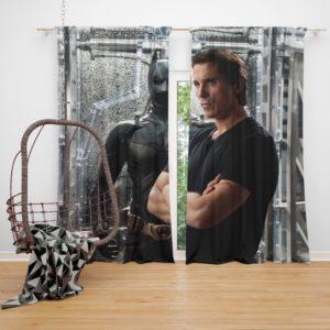 Dark Knight Rises Film Star Christian Bale Curtain