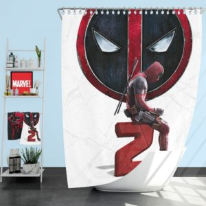 Deadpool 2 Movie Deadpool Ryan Reynolds Shower Curtain
