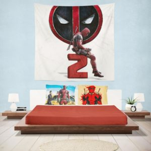 Deadpool 2 Movie Deadpool Ryan Reynolds Wall Hanging Tapestry