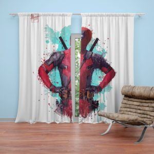 Deadpool Artwork Curtain
