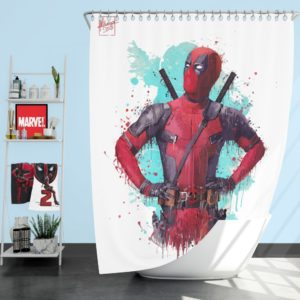 Deadpool Artwork Shower Curtain