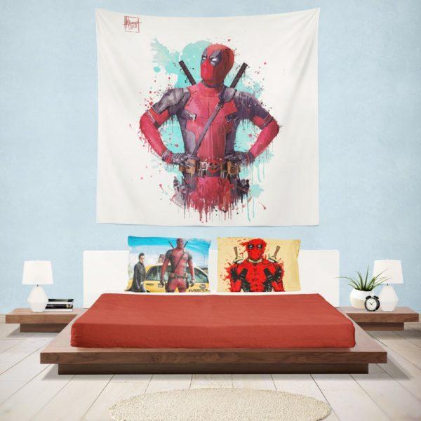 Deadpool Artwork Wall Hanging Tapestry