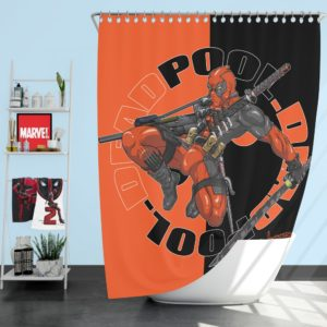 Deadpool Chimichangas Marvel Comics Shower Curtain