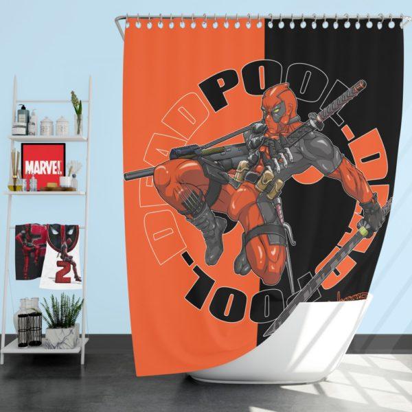 Deadpool Chimichangas Marvel Comics Shower Curtain