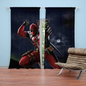 Deadpool Digital Paint Art Curtain