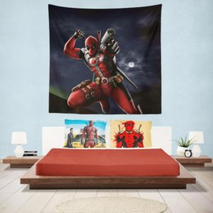 Deadpool Digital Paint Art Wall Hanging Tapestry