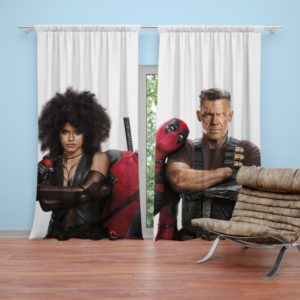 Deadpool Domino and Cable Curtain
