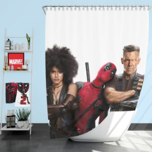 Deadpool Domino and Cable Shower Curtain