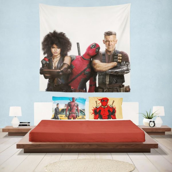 Deadpool Domino and Cable Wall Hanging Tapestry