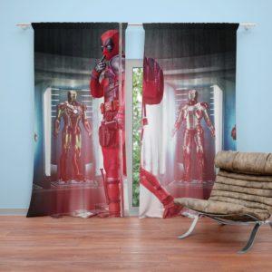 Deadpool Fan Art Curtain