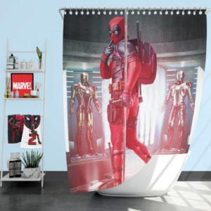 Deadpool Fan Art Shower Curtain