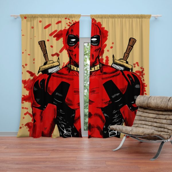 Deadpool Marvel Comic Art Curtain